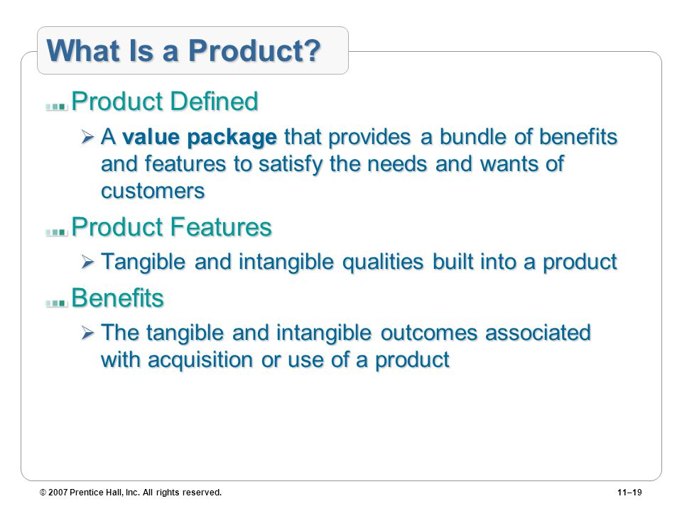 What Is a Product Product Defined Product Features Benefits