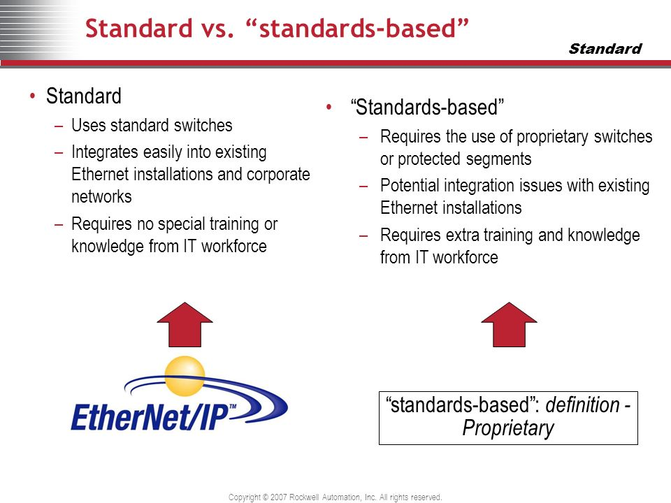 Standard vs. standards-based