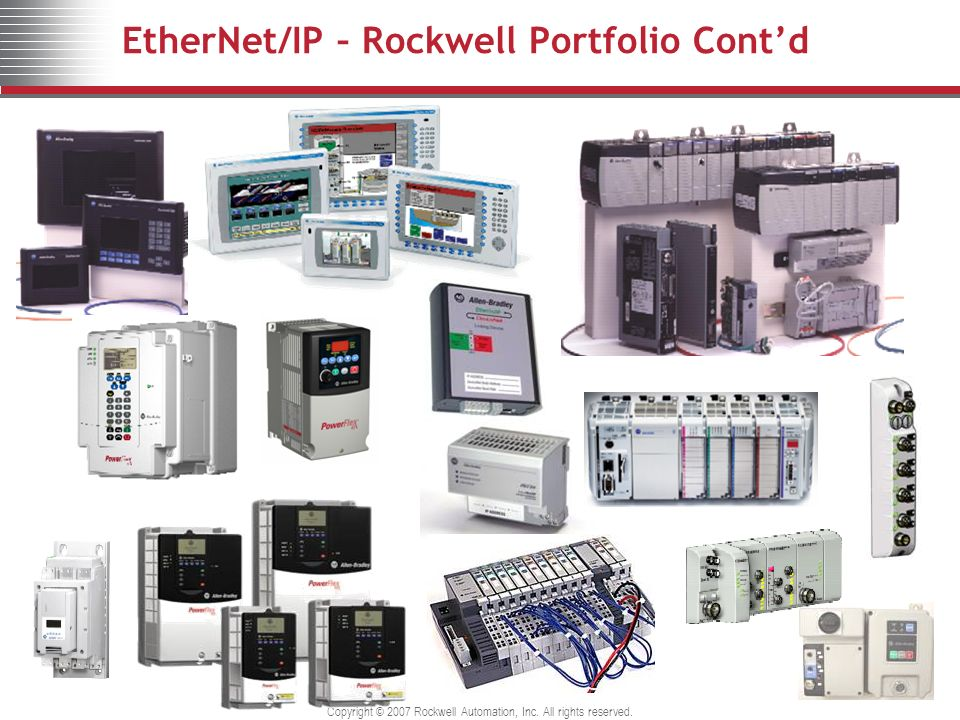EtherNet/IP – Rockwell Portfolio Cont'd