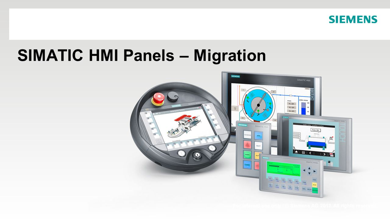 SIMATIC HMI Panels – Migration