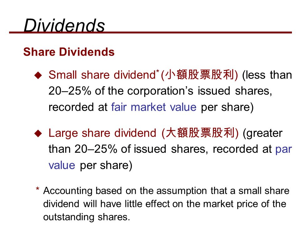 Dividends Share Dividends