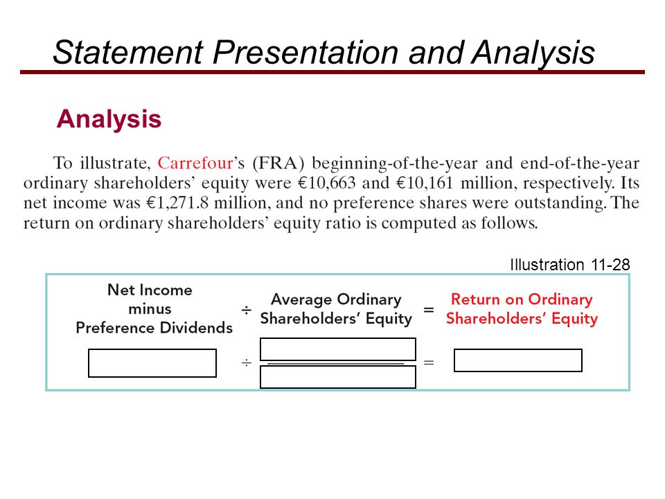 Statement Presentation and Analysis