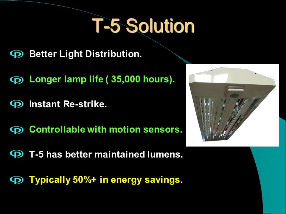 T-5 Solution Better Light Distribution.