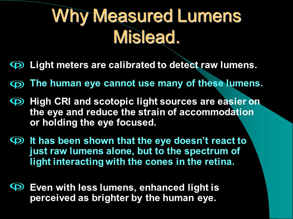 Why Measured Lumens Mislead.