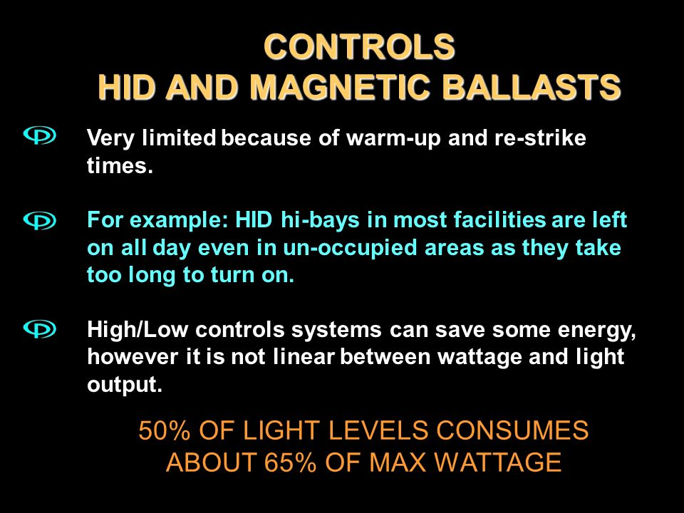 CONTROLS HID AND MAGNETIC BALLASTS