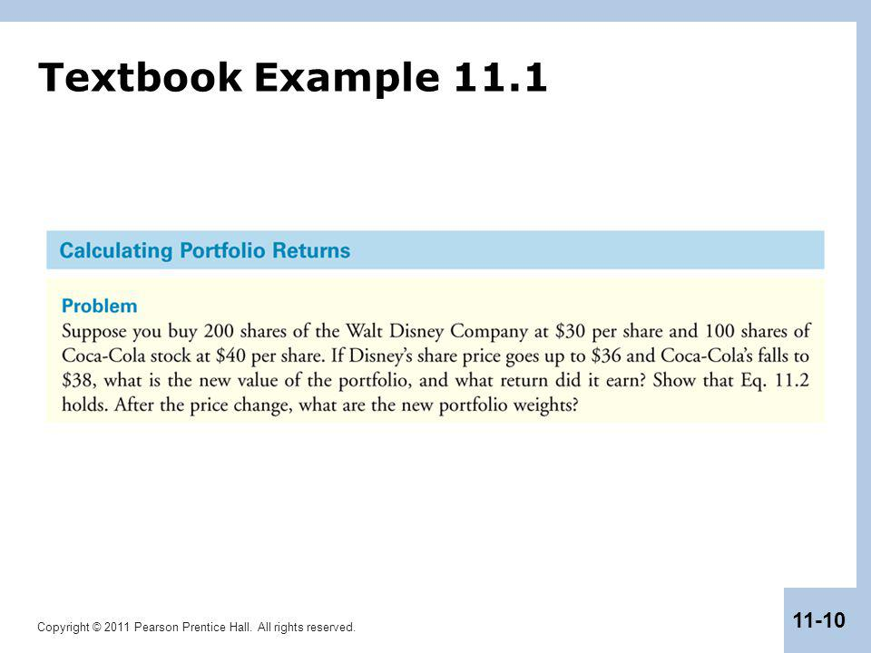 Textbook Example 11.1
