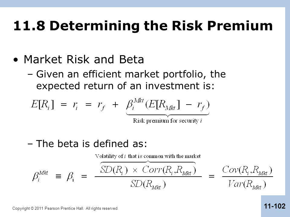 11.8 Determining the Risk Premium