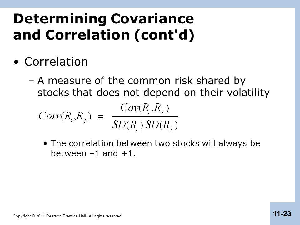 Determining Covariance and Correlation (cont d)