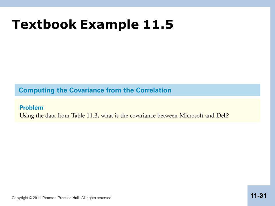 Textbook Example 11.5