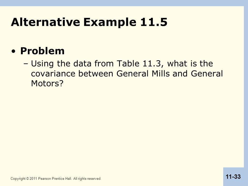 Alternative Example 11.5 Problem