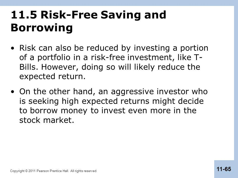 11.5 Risk-Free Saving and Borrowing