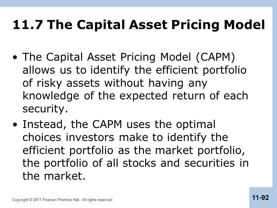 11.7 The Capital Asset Pricing Model