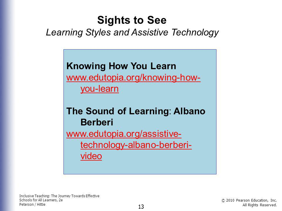Learning Styles and Assistive Technology