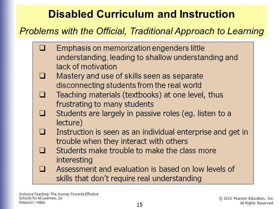 Disabled Curriculum and Instruction