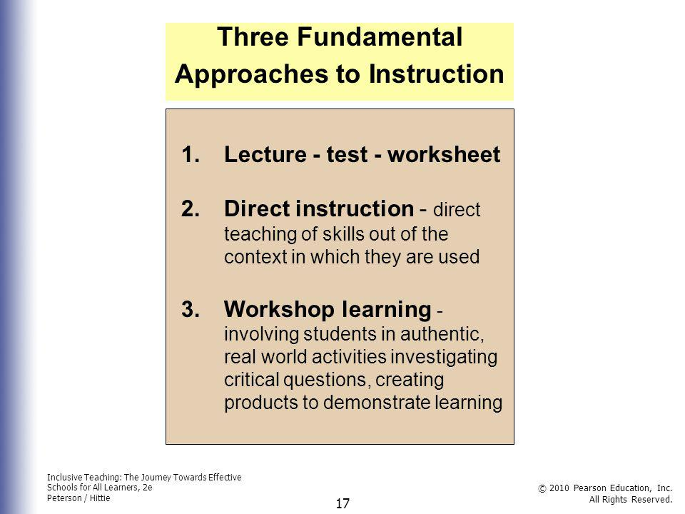 Approaches to Instruction
