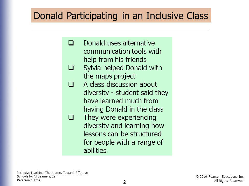 Donald Participating in an Inclusive Class