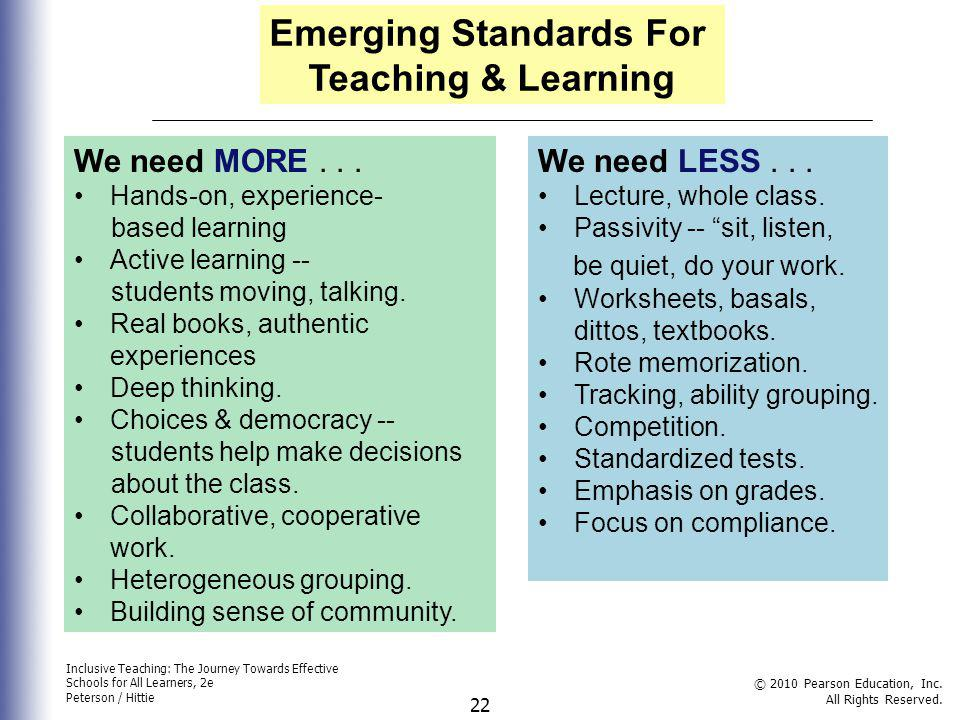 Emerging Standards For