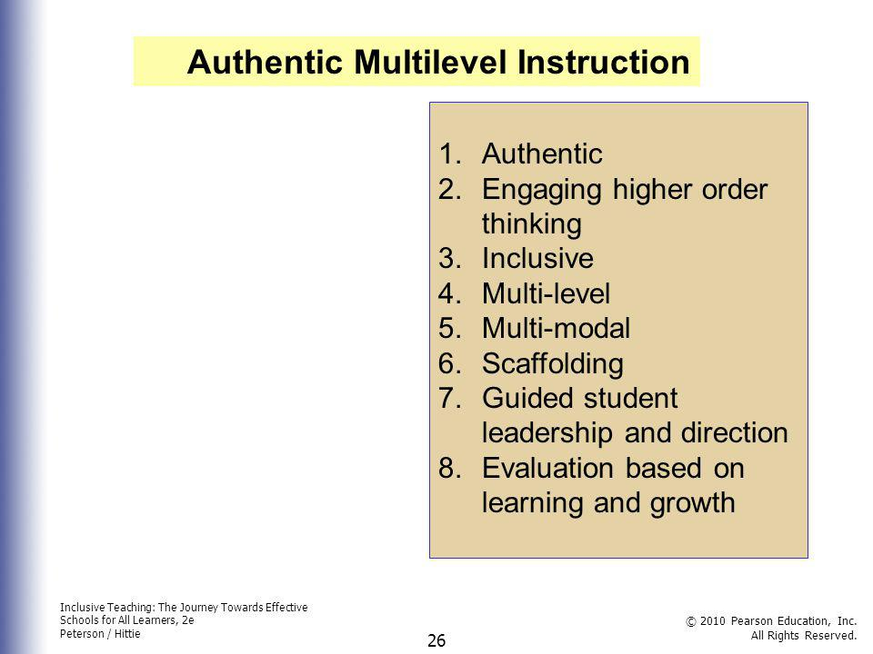 Authentic Multilevel Instruction