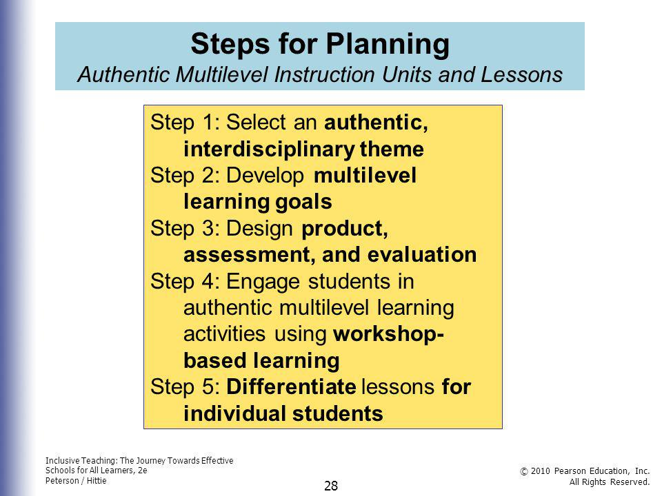 Authentic Multilevel Instruction Units and Lessons