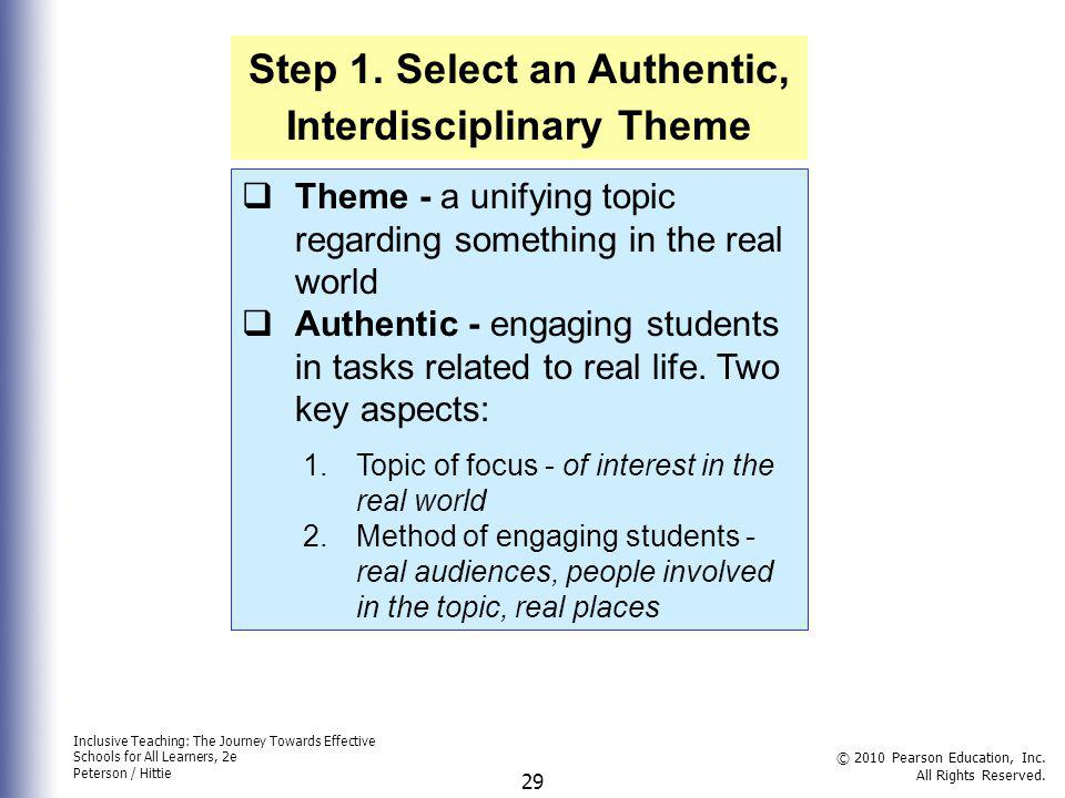 Step 1. Select an Authentic, Interdisciplinary Theme