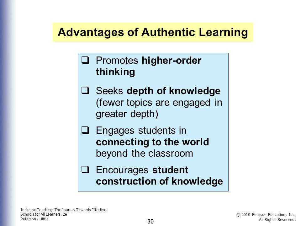 Advantages of Authentic Learning