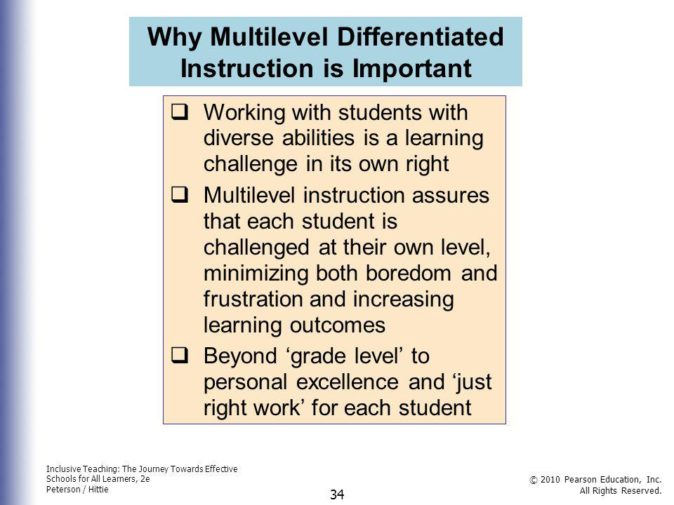 Why Multilevel Differentiated Instruction is Important