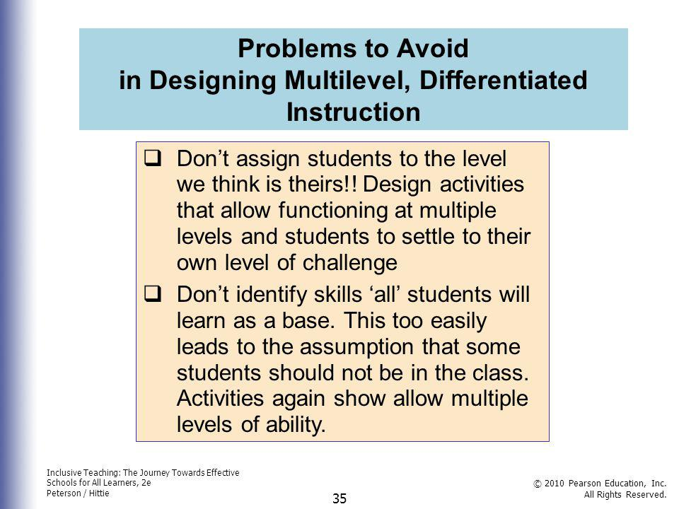 in Designing Multilevel, Differentiated Instruction