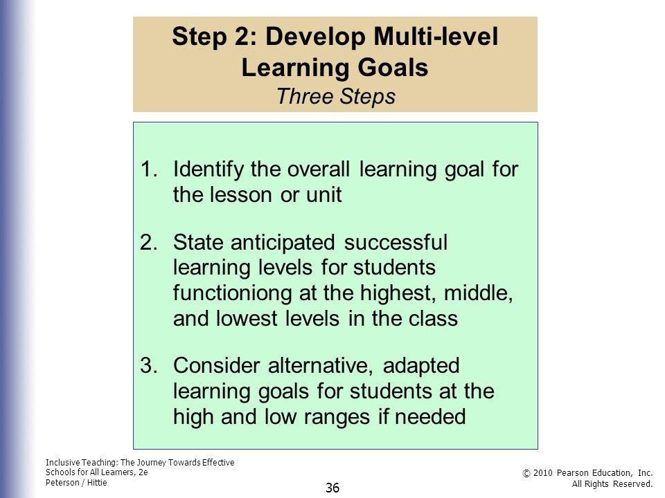 Step 2: Develop Multi-level Learning Goals