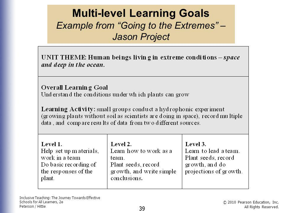 Multi-level Learning Goals