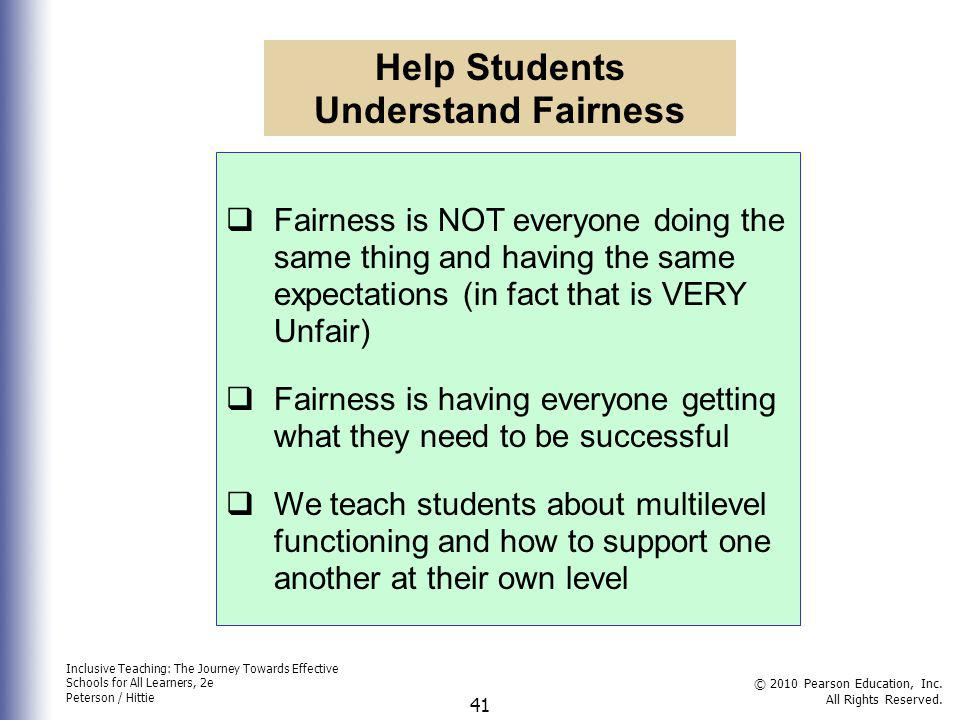 Help Students Understand Fairness