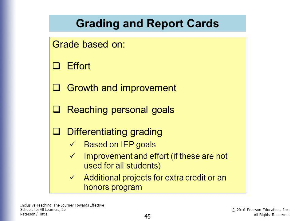 Grading and Report Cards