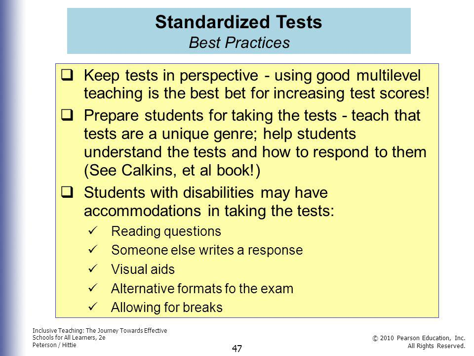 Standardized Tests Best Practices
