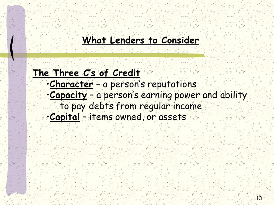 What Lenders to Consider