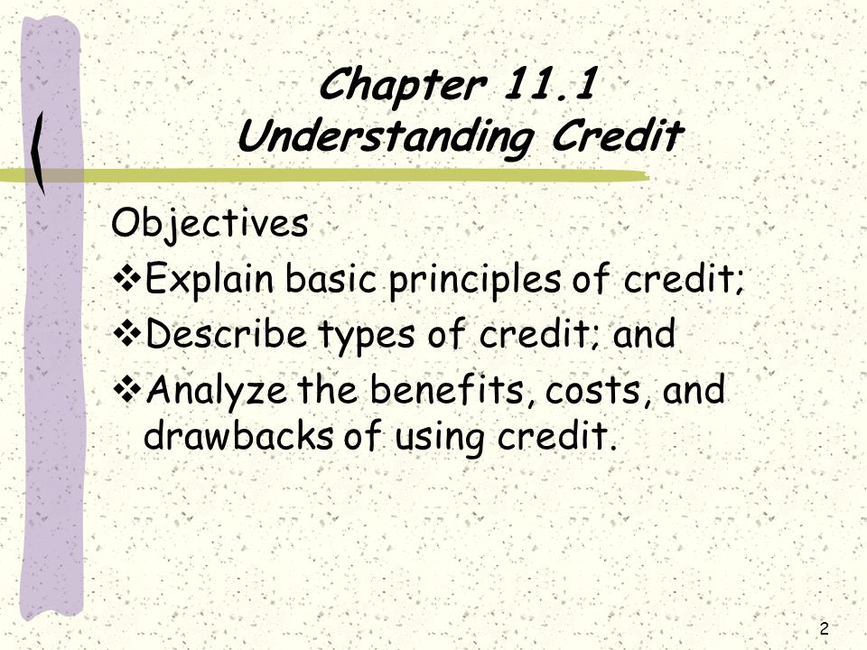 Chapter 11.1 Understanding Credit