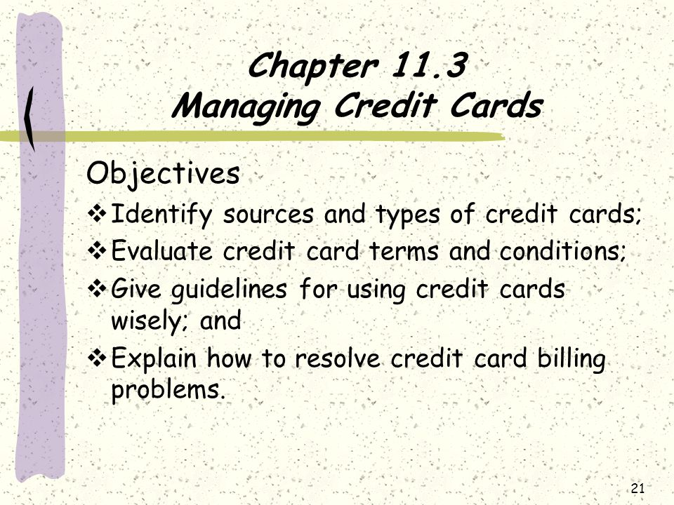 Chapter 11.3 Managing Credit Cards
