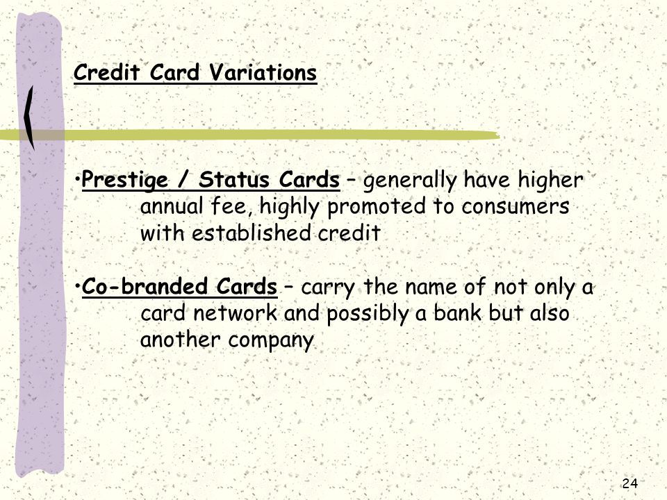Credit Card Variations