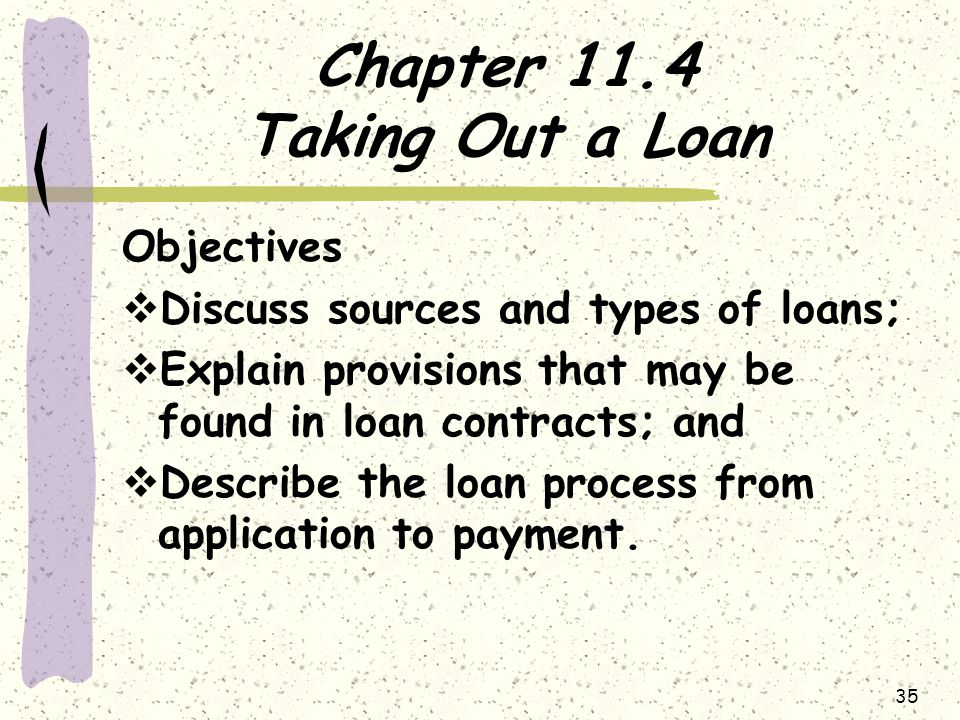 Chapter 11.4 Taking Out a Loan
