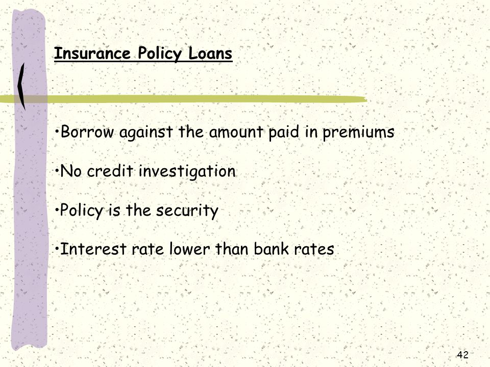 Insurance Policy Loans