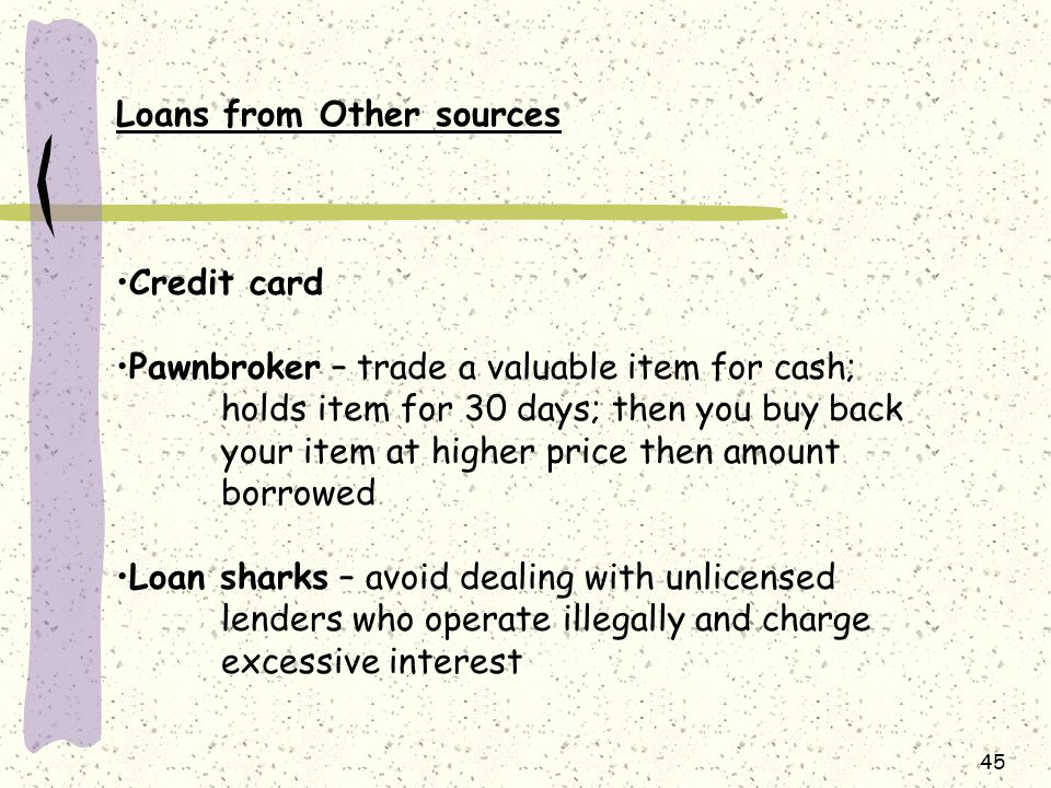 Loans from Other sources