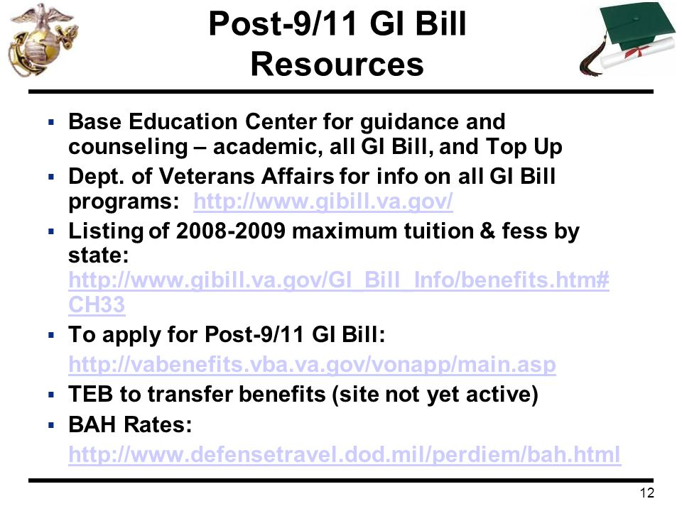 Post-9/11 GI Bill Resources