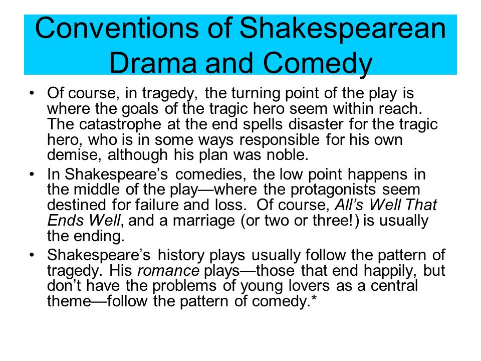 Conventions of a shakespeare tragedy essay