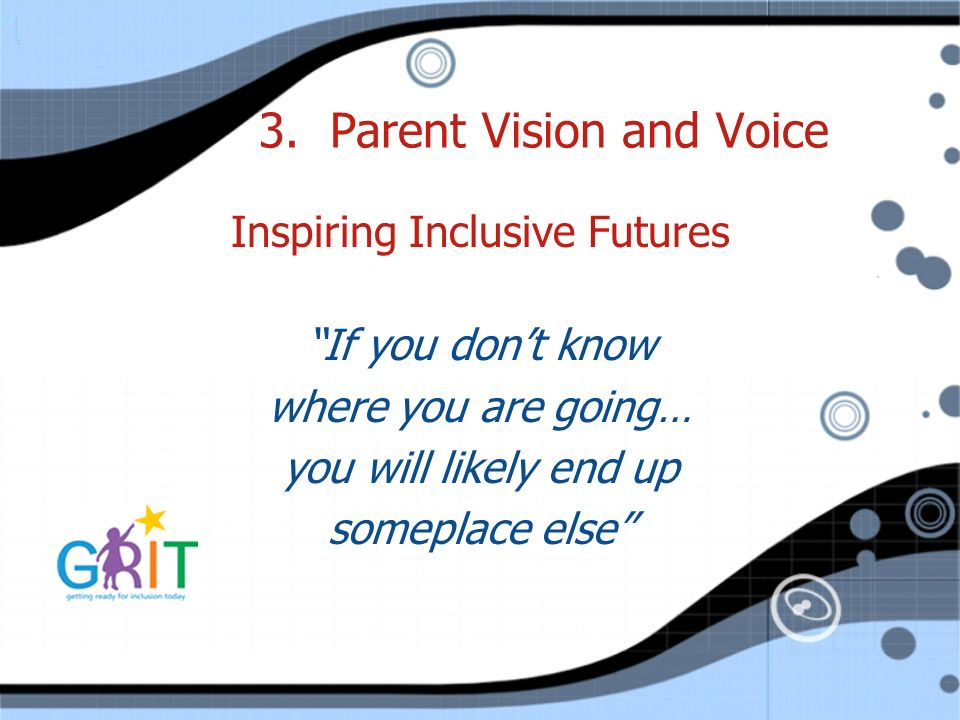 3. Parent Vision and Voice