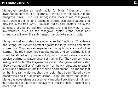 11.4 MANGROVES REFERENCES & FURTHER READING