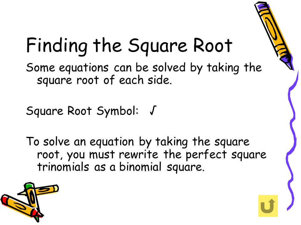Finding the Square Root