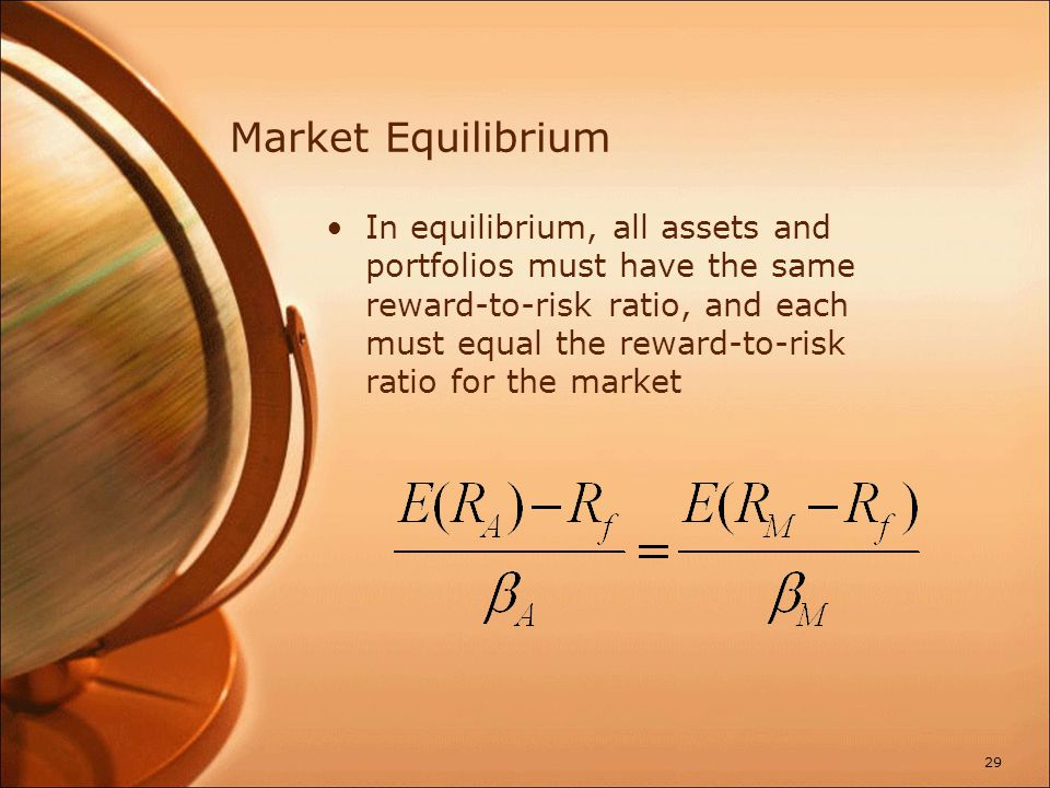 Security Market Line The security market line (SML) is the representation of market equilibrium.