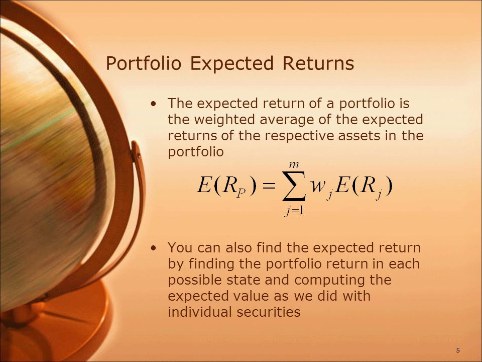Example: Expected Portfolio Returns