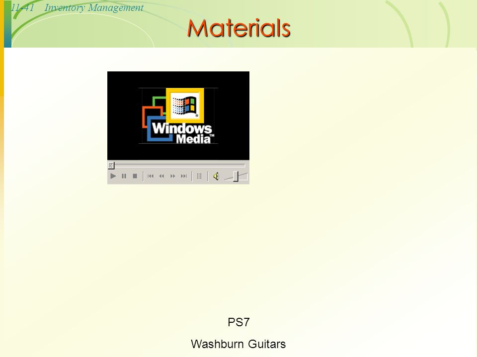 Materials PS7 Washburn Guitars