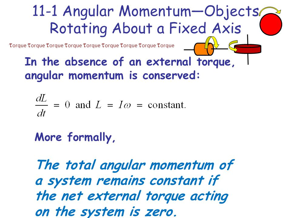 11-1 Angular Momentum—Objects Rotating About a Fixed Axis