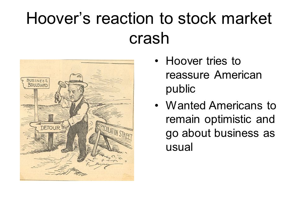 Hoover's reaction to stock market crash