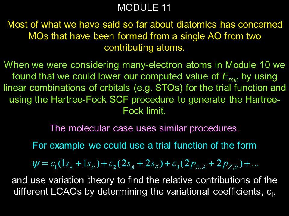 The molecular case uses similar procedures.